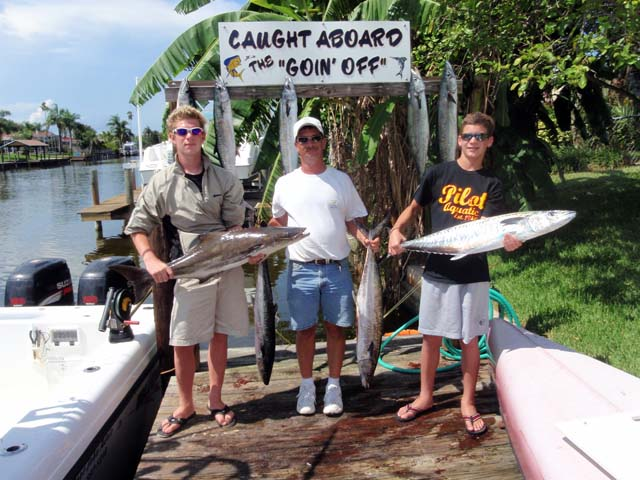 Another happy crew after deep sea fishing aboard the Goin Off out of Port Canaveral near Cocoa Beach
